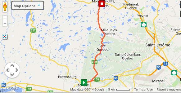 Lachute to Morin Heights